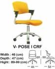 Kursi Staff & Sekretaris Indachi V-Pose I CRF