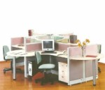 Partisi Kantor Uno Exclusive 4 Staff Configuration